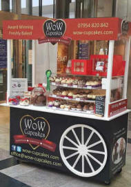 Cupcake Shop Cart Saturday WestQuay Shopping Centre Southampton Hampshire Wow Cupcakes Birthday Gifts Corporate Logo Branded Cupcakes hampshire